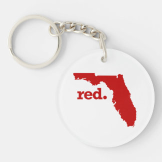 FLORIDA RED STATE KEYCHAIN