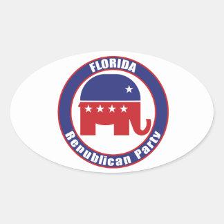 Florida Republican Party Oval Sticker