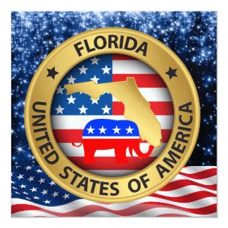 Florida Republican Patriotic Invitation - srf