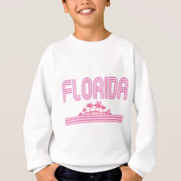 Beach Themed Florida Retro Neon Palm Trees Pink Sweatshirt