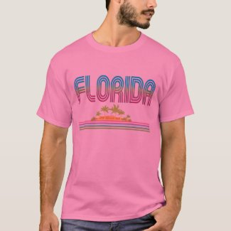 FLORIDA Retro Neon Palm Trees T-Shirt