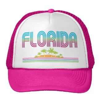 FLORIDA Retro Neon Palm Trees Trucker Hat