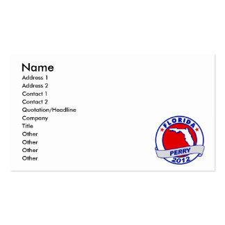 Florida Rick Perry Business Card Templates