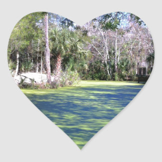 Florida River Wilderness Heart Sticker