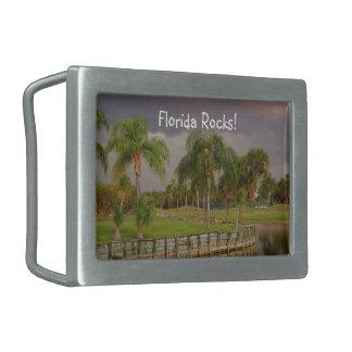 Florida Rocks! Palm trees Belt Buckle