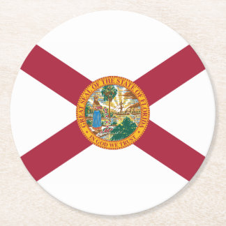 Florida Round Paper Coaster