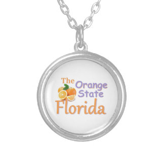 FLORIDA ROUND PENDANT NECKLACE