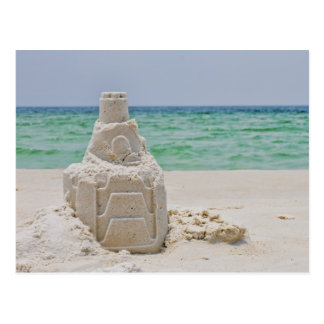 Florida Sand Castle Postcard