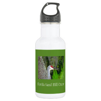 Florida Sand Hill Crane 18 oz Water Bottle