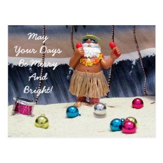 Florida Santa Postcard - Merry Rockin' Christmas