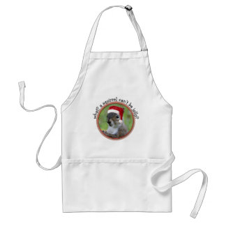 Florida Santa Squirrel™ Fun Christmas Holiday Adult Apron