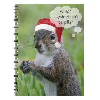 Florida Santa Squirrel™ Fun Christmas Holiday Spiral Notebook