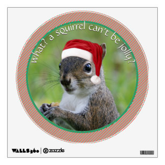 Florida Santa Squirrel™ Speaks Sarcasm Christmas Wall Decal