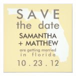 "Florida Save the Date Cards 5.25"" Square Invitation Card"