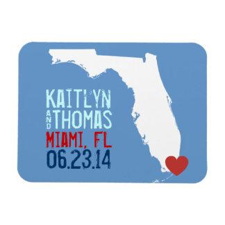 Florida Save the Date - Customizable City Magnet