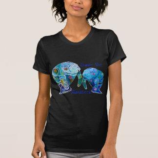 Florida Save the Manatees in Vivid Blues Shirt