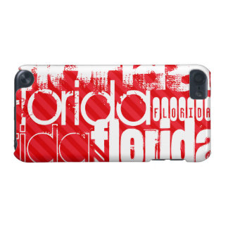 Florida; Scarlet Red Stripes iPod Touch 5G Cases