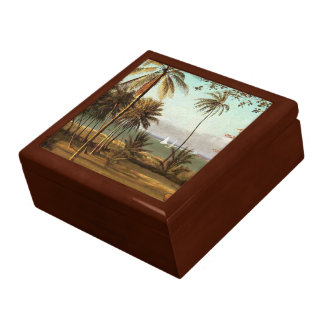 Florida Scene - Albert Bierstadt, artist Jewelry Box