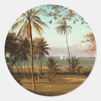 Florida Scene - Albert Bierstadt Classic Round Sticker