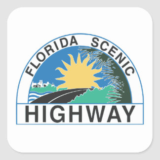 Florida Scenic Highway Road Sign Travel Sticker