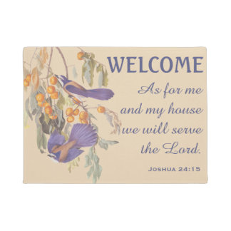 Florida Scrub Jay Birds and Verse Doormat