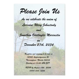 Florida scrub land trees 5x7 paper invitation card