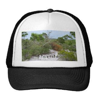 FLorida scrub land with text Mesh Hat