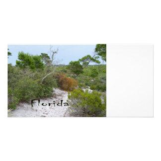 FLorida scrub land with text Photo Card