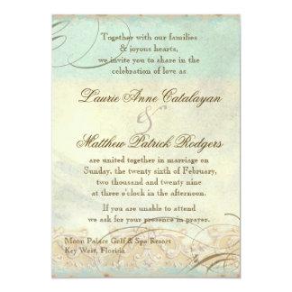 Florida Sea Turtle Modern Coastal Ocean Beach 5x7 Paper Invitation Card