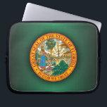 """Florida Seal Laptop Sleeve<br><div class=""""desc"""">Florida Seal</div>"""