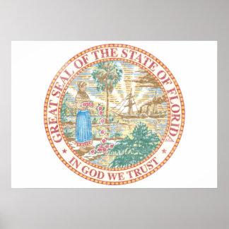 Florida Seal Poster