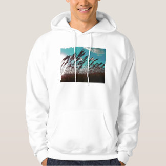 Florida seaoats against teal sky dune backdrop sweatshirts