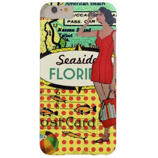 Florida seaside bathing beauty retro bathing suit barely there iPhone 6 plus case
