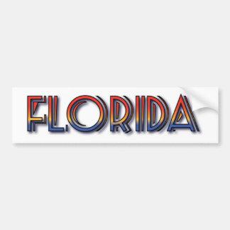Florida Seaside - Rainbow Text Car Bumper Sticker