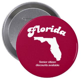 Florida - Senior Citizen discounts T-shirt Pinback Buttons