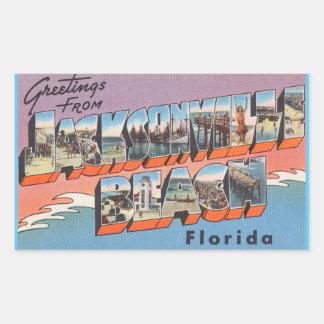 Florida, Sheet of 4 Jacksonville Bch. stickers