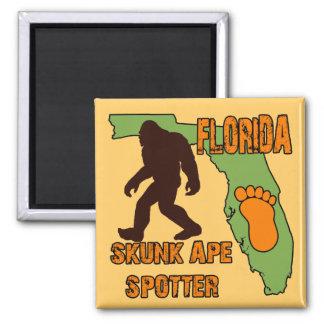 Florida Skunk Ape Spotter 2 Inch Square Magnet