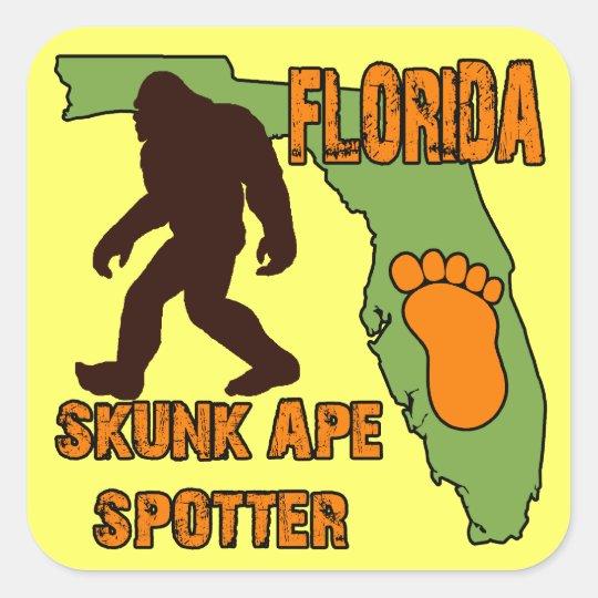 Florida Skunk Ape Spotter Square Sticker