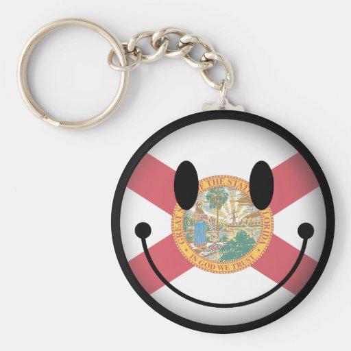 Florida Smiley Basic Round Button Keychain