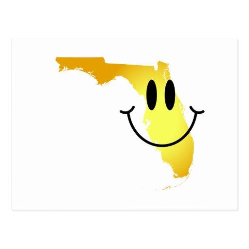 Florida Smiley Face Post Card