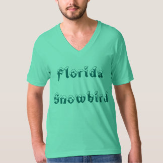 Florida Snowbird Personalized V Neck T Shirts