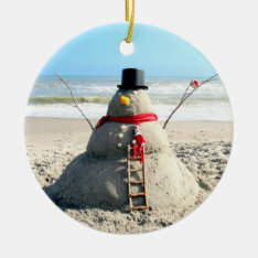 Florida Snowman Ornament at Zazzle
