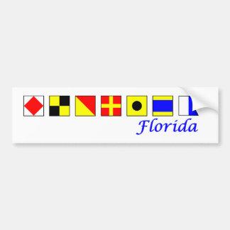 Florida spelled in nautical flag alphabet bumper sticker