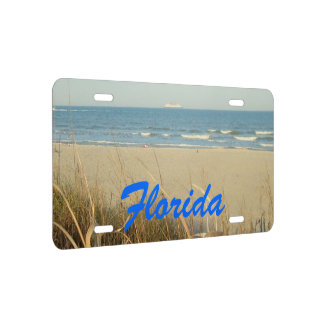 Florida Spring Beach Scene No. 3 License Plate