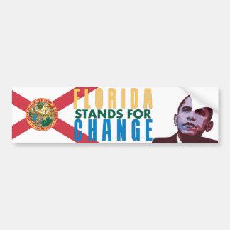 Florida Stands for Change - Obama Bumper Sticker Car Bumper Sticker