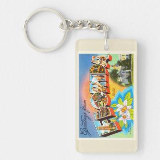 Florida State #1 FL Old Vintage Travel Souvenir Keychain