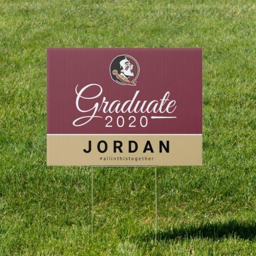 Florida State 2020 Graduate Sign