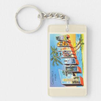 Florida State # 2 FL Old Vintage Travel Souvenir Keychain