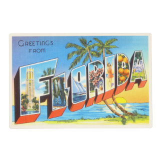Florida State # 2 FL Old Vintage Travel Souvenir Placemat