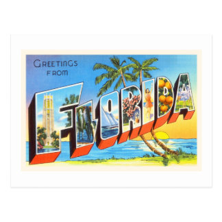 Florida State # 2 FL Old Vintage Travel Souvenir Postcard